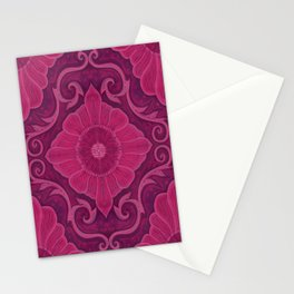 Ruby flowers Stationery Cards