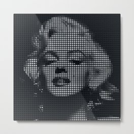 Marilyn Monroe Dots Metal Print