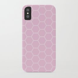 Honeycomb Light Pink #326 iPhone Case