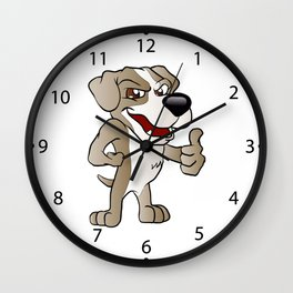 Bad Dog cartoon.  Wall Clock