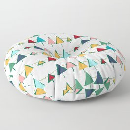 Cute Christmas tree colorful Floor Pillow