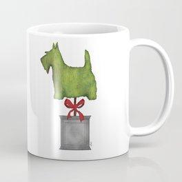 Scottish Terrier Scottie Topiary Artwork Coffee Mug