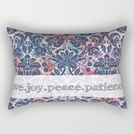 Love.Joy.Peace.Patience Rectangular Pillow