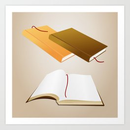 Book collection Art Print
