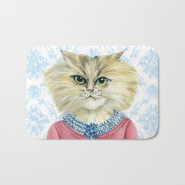 Vernonica Dressed for Luncheon Bath Mat