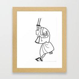 Samurai Jack Abstract Framed Art Print