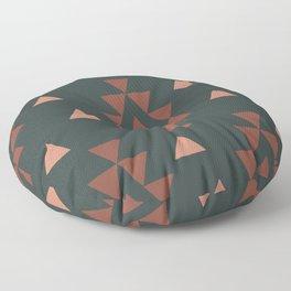 Dark Southwest Triangle Pattern Floor Pillow