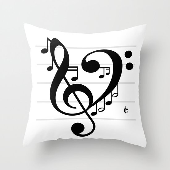 Love Music II Throw Pillow
