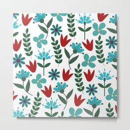 Flower Pattern VIII Metal Print