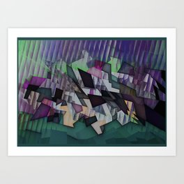 Storm over the country Art Print