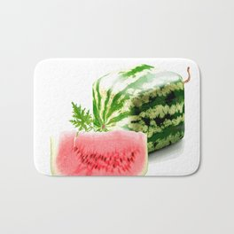 SQUARE WATERMELON Bath Mat