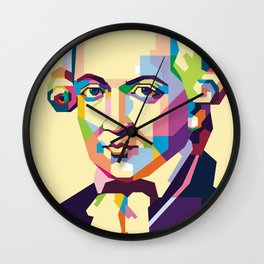 Immanuel Kant in Pop Art Wall Clock