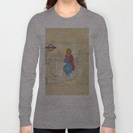 Jesus on the Tube, He is among us Long Sleeve T-shirt