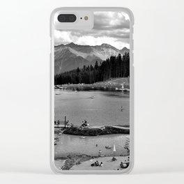 adventure park hög alps serfaus fiss ladis tyrol austria europe black white Clear iPhone Case