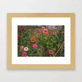 Fall Flowers Framed Art Print