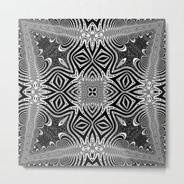 Black & White Tribal Symmetry Metal Print