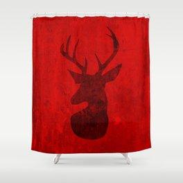 Red Deer Stag Design Shower Curtain