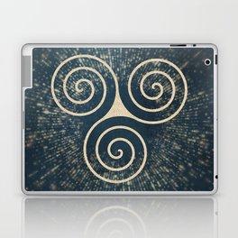 Triskelion Golden Three Spiral Celtic Symbol Laptop & iPad Skin