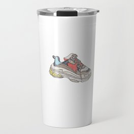 Balenciaga Triple S Sneaker Pattern Illustration Travel Mug