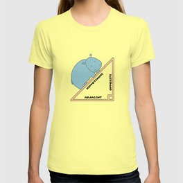 Funny Hippo Hippotenuse VintageAnimal Lovers Gift T-shirt