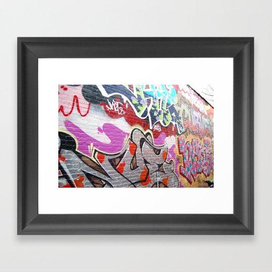 graffiti3 Framed Art Print