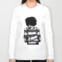 phil jones Long Sleeve T-shirts featuring Phil Lynott by Denis O'Sullivan