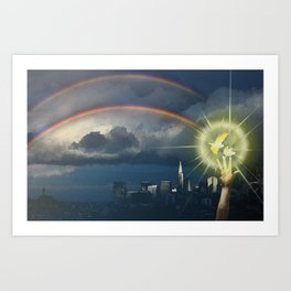 Broken Rainbow Art Print