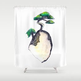 floating island Shower Curtain