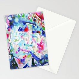PABLO NERUDA - watercolor portrait Stationery Cards