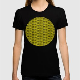 Geometric Optical Illusion Pattern III - Yellow & Black T-shirt