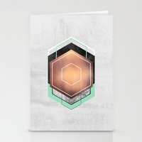 hexagon Stationery Cards featuring Hexagon Abstract #1 by Elisabeth Fredriksson