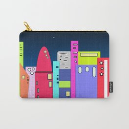 City in Space Bright Coloured Art Carry-All Pouch