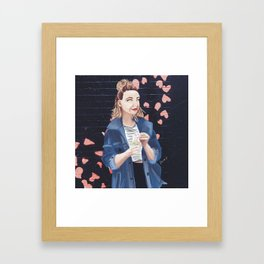 Influencers Illustrated: Zoella Framed Art Print