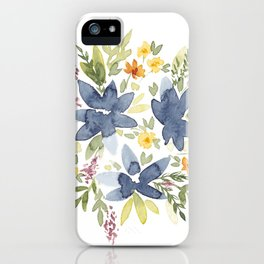 Watercolor Floral Bouquet iPhone Case