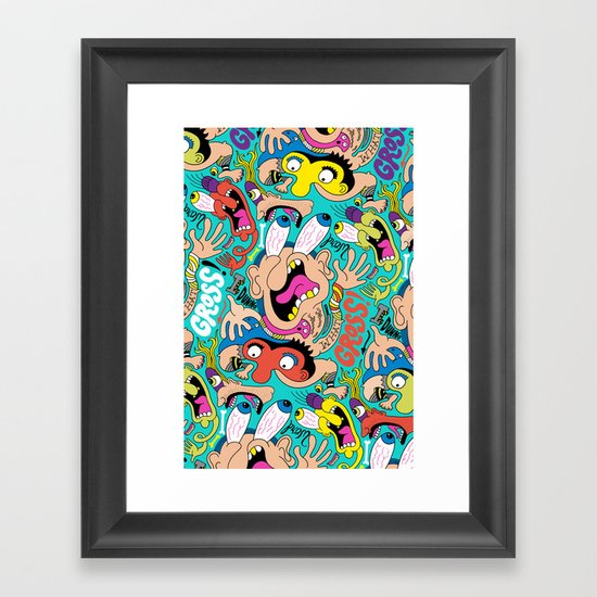 Weird Pattern Framed Art Print