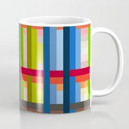 geometric retro colorful Naiad Coffee Mug