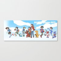 digimon Canvas Prints featuring digimon boys by luttu