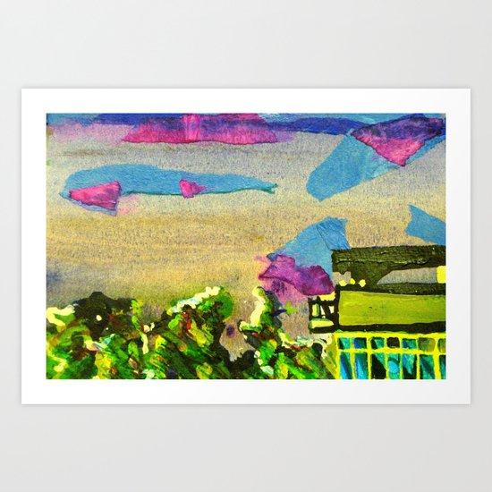 skyline in brighton  Art Print