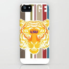 LSU Tigers Team Name Retro Style T-Shirt - Apparel iPhone Case