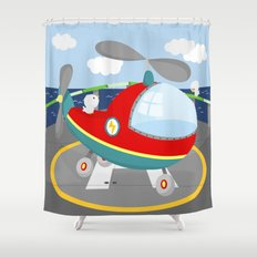 HELICOPTER (AERIAL VEHICLES) Shower Curtain
