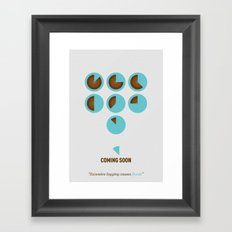 Coming Soon - Excessive logging causes floods Framed Art Print