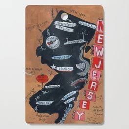 NEW JERSEY map Cutting Board