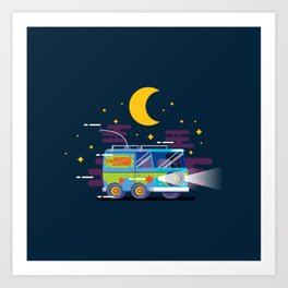 Mystery Machine Art Print