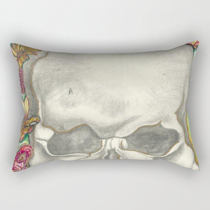 Skulls and Roses Rectangular Pillow