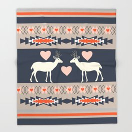 Romantic deer Throw Blanket