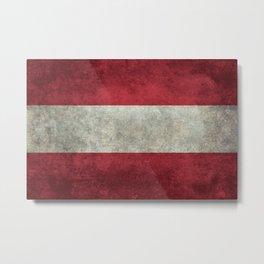Austrian National Flag - Vintage Version Metal Print