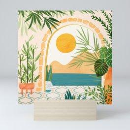 Villa View Tropical Landscape / Villa Series Mini Art Print