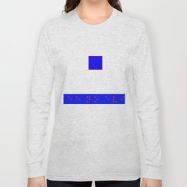 See No evil: Red Braille on Blue Boarder Long Sleeve T-shirt