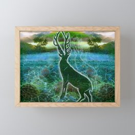 Garden of the Glitch Valley Stag Framed Mini Art Print
