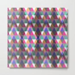 Multicolored geometric pattern . Metal Print